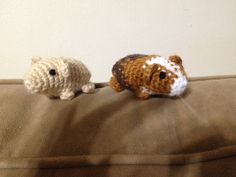 crochet guinea pig by HookLineStinker on Etsy
