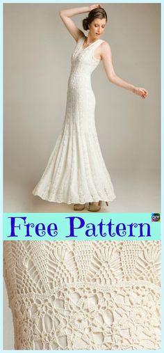 Beautiful Crochet Flare Dress - Free Patterns #freecrochetpatterns #dress #clothes