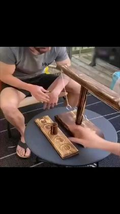 Small Wood Projects, Diy Projects To Try, Pallet Projects, Woodworking Projects Diy, Woodworking Shop, Woodworking Plans, Outside Games, Family Fun Games, Wood Games
