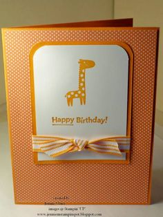 SUO-PPA#30 Giraffe Birthday by CraftyJennie - Cards and Paper Crafts at Splitcoaststampers