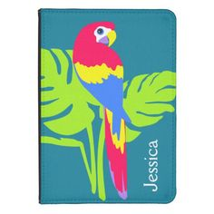 Macaw parrot graphic art named kindle case kindle touch cover