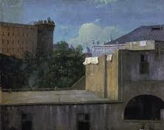 Thomas Jones: Buildings in Naples with the North-East Side of the Castle Nouvo National Museum of Wales, Cardiff, UK Cubist Sculpture, Baroque Sculpture, Sand Sculptures, Urban Landscape, Landscape Art, Famous Sculpture Artists, Van Gogh, National Museum Of Wales, Thomas Jones