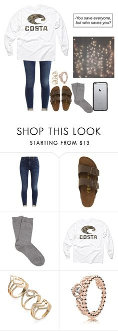 """costa"" by itsallison-m ❤ liked on Polyvore featuring Birkenstock, Falke, Realtree, Pandora and OtterBox"