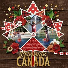 It's a special year for Canada and this beautiful collaboration from KCB and DSI is perfect to celebrate this beautiful country, 150 years in the making! Available at Sweet Shoppe Designs! Digital Scrapbooking Layouts, Scrapbook Pages, Scrapbook Layouts, Vacation Scrapbook, Canada Day, Family Traditions, Craft Projects, Make It Yourself, Christmas Ornaments