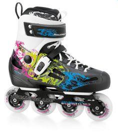 Colourful freestyle inline skates