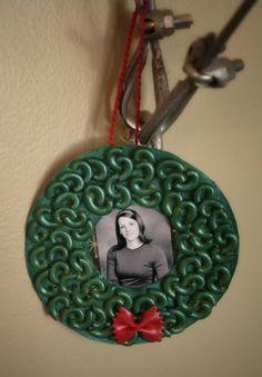 homemade Christmas ornament on a budget, grade school style