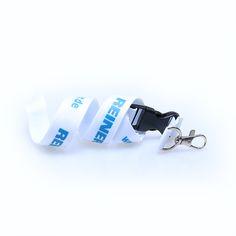 Promoschlüsselbänder Material: Polyester Breite: 20mm Druck: Siebdruck Verschlüsse: Standard Clip: Kunststoff Reiner