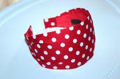 Red Polka Headband fashionable 50s headband Red and White