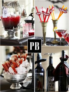 Bird's Party Blog: Halloween Week with Pottery Barn: How to Style a Blood Bar !!