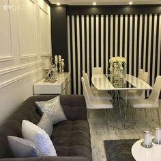 Duvar dekorasyon, Duvar kağıdı, Gri, Halı, Salon, Siyah-beyaz, Yemek Odası