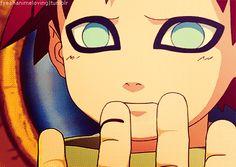 Gaara, young, childhood, cute, Yashamaru, cut, gif; Naruto
