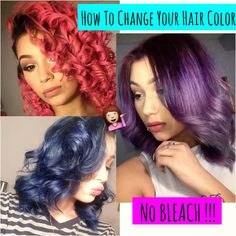 hey beauties so i know alot of you love bright hair color and dying your hair so this method is with no bleaching involved and works great sorry i was mia fo...