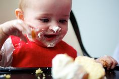 An important tip to consider when weaning your baby is to avoid cleaning their hands or face while they are eating. A sensory overload of being constantly wiped can create a negative association with food, and each mealtime should be as positive an experience as possible. So no matter how much you are tempted to remove the mess, it is much better to wait until they are fully finished before you do so.