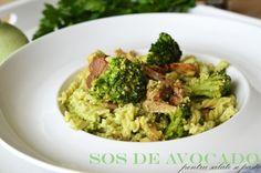 Sos de avocado pentru salate si paste Nachos, Avocado, Guacamole, Healthy Recipes, Healthy Food, Grains, Rice, Salads, Healthy Foods