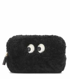Ghost shearling makeup pouch | Anya Hindmarch
