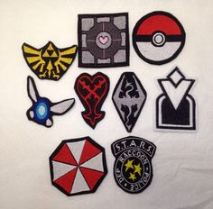 Video Game Iron On Patches by CreationsFromTheWarp on Etsy, $6.00