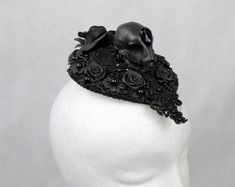 Gothic Burlesque & Fantasy feather accessories for von xSwanSongx Cat Skull, Gothic Accessories, Fantasy, Alternative Fashion, Headdress, Gothic Fashion, Burlesque, Fascinator, Dream Wedding