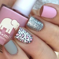 Matte Leopard Nails Milky Way Nails ★ Here are 19 ideas for really cute nails you will love! There are a ton of nail art designs out there, so how do you know which one is best for you? Leopard Nail Art, Leopard Print Nails, Leopard Prints, Pink Cheetah Nails, Gray Nails, Gorgeous Nails, Fabulous Nails, Manicure E Pedicure, Nail Manicure