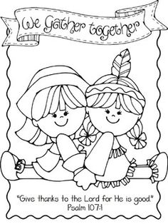 thanksgiving coloring pages for church | Christian Thanksgiving Printables | Church House ...