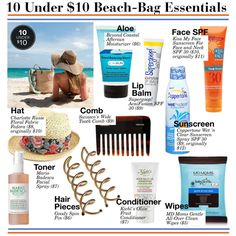 10 Beach-Bag Essentials unter 10 US-Dollar Travel Bag Essentials, Beach Essentials, Home Design, Beach Trip Packing, Best Travel Bags, What In My Bag, Beach Bum, Strand, Inspiration