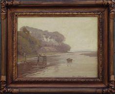 "Aaron Kilpatrick (1872-1953) Morro Harbor, O/C, 14"" x 18"""