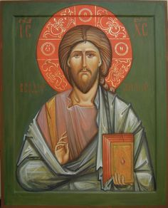 jesus Christ Son Of God by Carol Jackson Religious Icons, Religious Art, Christ Pantocrator, Byzantine Art, Angels And Demons, Son Of God, Sacred Art, Christian Art, Pictures To Draw