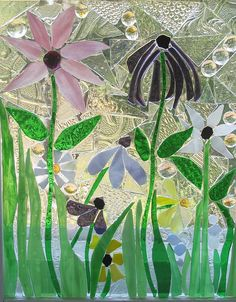 wild flowers by susan gilfoy ~ glass on glass