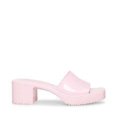 Crazy Shoes, Kid Shoes, Blue Shoes, Me Too Shoes, Women's Shoes, Steve Madden Store, Steve Madden Heels, Pink Chunky Heels, Fashion Shoes