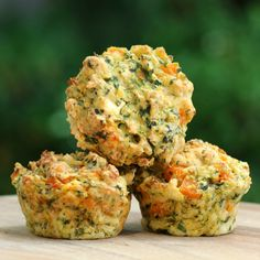 Recipe: Savoury Pumpkin, Spinach and Feta Muffins - Blattspinat Rezepte Healthy Savoury Muffins, Savory Snacks, Healthy Snacks, Healthy Eating, Savory Foods, Savory Pumpkin Recipes, Healthy Pumpkin, Spinach And Feta Muffins, Scones