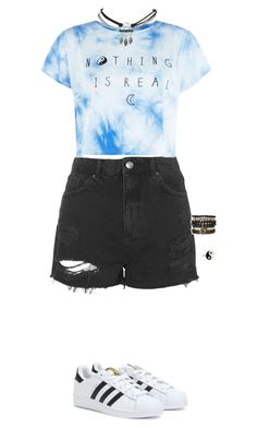 Summer day outfit by lelemer1234 on Polyvore featuring polyvore, fashion, style, Topshop, adidas, Samantha Wills, Wet Seal and Accessorize