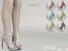The Sims Resource: Madlen Oxa Shoes by MJ95 • Sims 4 Downloads