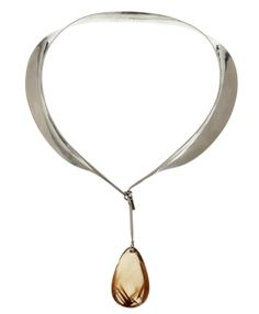 ** Torun Bülow Hübe silver necklace, France 1950's