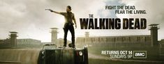 Same basic artwork as before, but a lot more background in the billboard art for the new season of The Walking Dead