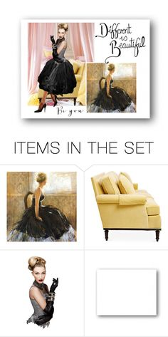 """""""Different is beautiful"""" by colonae ❤ liked on Polyvore featuring art"""