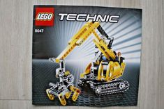 Lego 8047 INSTRUCTION BOOK For Compact Excavator #Lego Lego Instruction Books, Lego Technic, Lego Instructions, Lego Building, Nerf, Compact, Ebay
