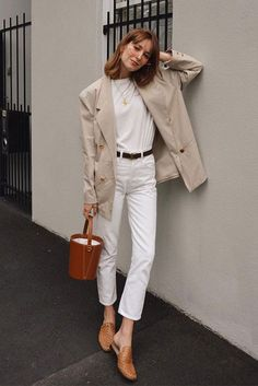 Fall Street Style Outfits to Inspire – Daily Fashion Tips Spring Outfits Women Casual, Spring Work Outfits, Summer Fashion Outfits, Simple Outfits, Casual Outfits, Fashion Spring, Fashion Clothes, Travel Outfits, Outfit Summer
