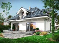Projekt domu Maja 133,72 m² - koszt budowy - EXTRADOM Utila, Architectural House Plans, My Ideal Home, Roof Structure, Design Case, Home Fashion, Exterior Design, Interior Inspiration, Colonial