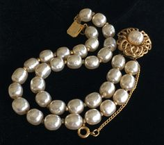 Vintage Pearls, Baroque Pearls, Vintage Jewelry, Strand Bracelet, Pearl Bracelet, Miriam Haskell, Bracelet Designs, That Way, Fine Jewelry