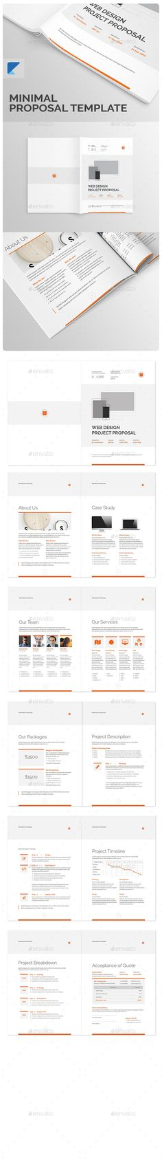 invoice Template and Stationary design - website proposal template