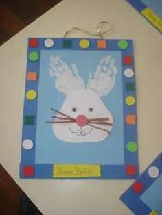 @Amanda Baker - crafts for kids ~ hand print bunny