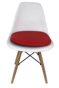 MOBISTYL - Cojín simil piel para Silla Eames - Rojo - DEC-293 - http://vivahogar.net/oferta/mobistyl-cojin-simil-piel-para-silla-eames-rojo-dec-293/ -