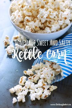 I don't know about you, but I love anything sweet and salty. And popcorn has always been a weakness of mine because it's easy to make at home, it's a relatively healthy snack, and it's just plain delicious. After coming to the realization that I'd spent $5 on a bag of sweet and salty kettle...