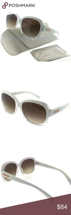 MK6037-312613 Mitzi Women's White Frame Sunglasses New gorgeous authentic Michael kors MK6037-312613 crystal white frame brown lens 57mm genuine sunglasses with stylish look. Michael Kors sunglasses are created with a polished, sleek, sophisticated American sportswear attitude and style in mind. Michael Kors mission is to bring you a vision of a jet-set,luxury lifestyle to women and men around the globe. MICHAEL KORS Accessories Sunglasses