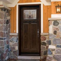 Feather River Doors Phoenix Patina Craftsman Stained Chestnut Mahogany Fiberglass Entry Door-F63795 at The Home Depot