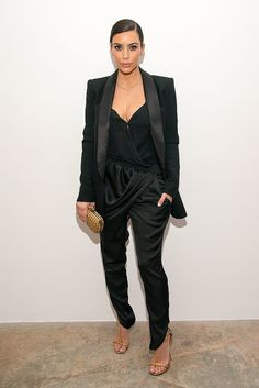 The Red Carpet Looks We Never Saw Coming: Kim Kardashian in a conservative black suit?