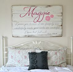 Custom name sign || Aimee Weaver Designs