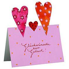 Glückwunschkarte - Glückwünsche zur Geburt - Geschenke von Geschenkidee