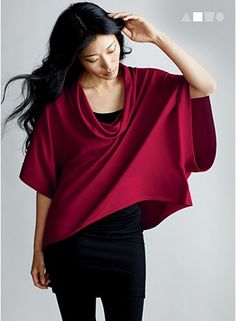 Eileen Fisher: GREAT red! Love the look.