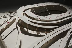 Infrastructure Integrated Olympic Stadium, Architectural Model by Supawich Somboonsub, Photo by Panittra Eawsivigoon