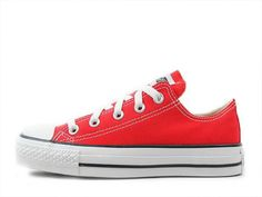 watch bbd23 7f722 Converse All Star Canvas Ox Unisex Chuck Taylor Trainers Low Top Fresh Red